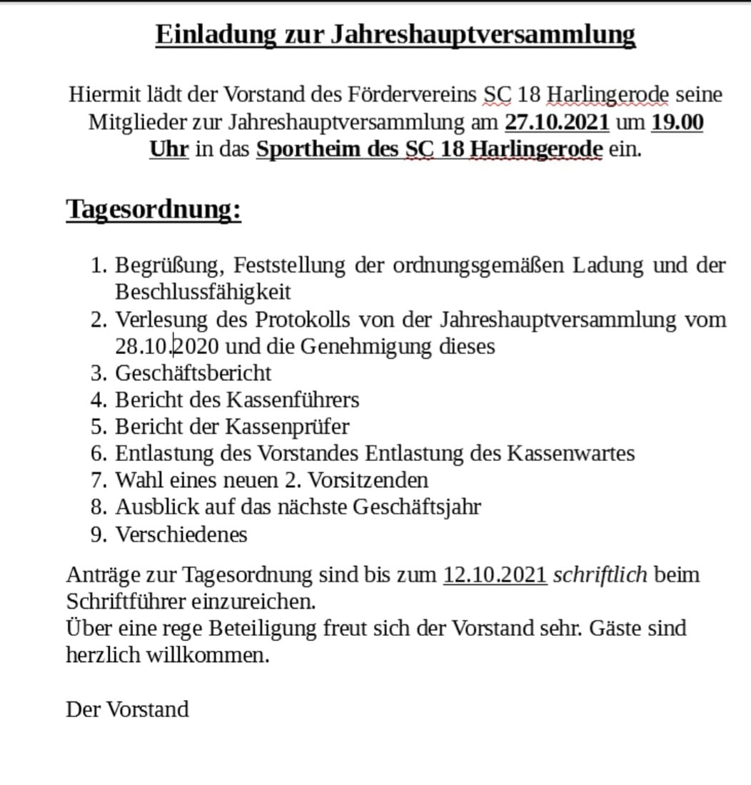 Read more about the article Versammlung des Fördervereins